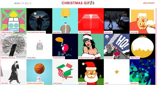 クリスマスのギフトに愉快なGIFアニメを送る「Christmas Gifs」