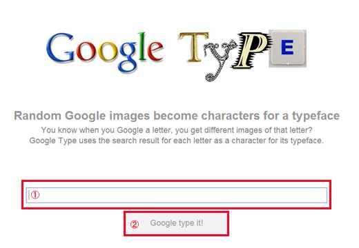 Google type it!