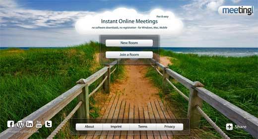 登録不要ですぐWEB会議をすることができる「meetingl」