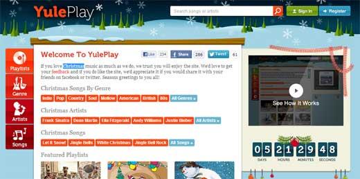 色んなジャンルからクリスマスソングだけを集めた音楽サイト「Yuleplay」