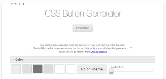 角丸やグラデーションも楽々!CSSだけで作るボタンが簡単に作成できる「CSS Button Generator」