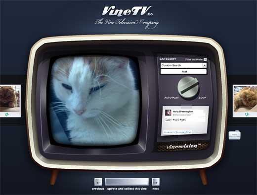 デザインがグッド!Vineの動画をテレビを見ているような感覚で閲覧できる「Vine TV」