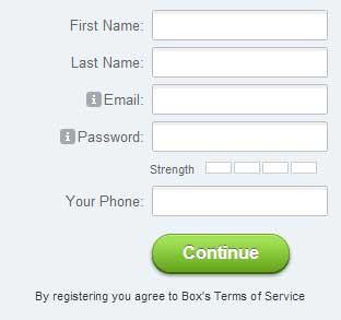BOX登録フォーム