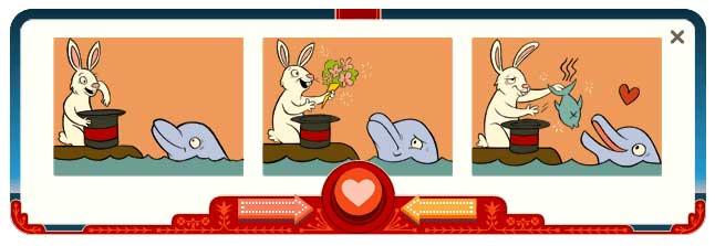 Googleのロゴがバレンタインデー仕様に(ジョージ・フェリス生誕154周年もね)