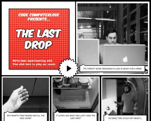 Vineを使って作成された新感覚動画コミック「THE LAST DROP」