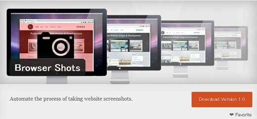 URLを入力するだけでサイトのキャプチャ画像を作成してくれるWordPressプラグイン「Browser Shots」