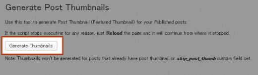 Generate Thumbnails