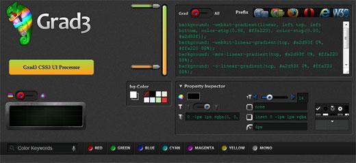 CSS3のグラデーションやボタンが楽々作成できちゃうWEBサービス「Grad3」
