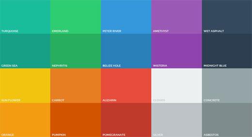 フラットデザインの色を決める時に使えるカラーパレット「Flat UI Colors」