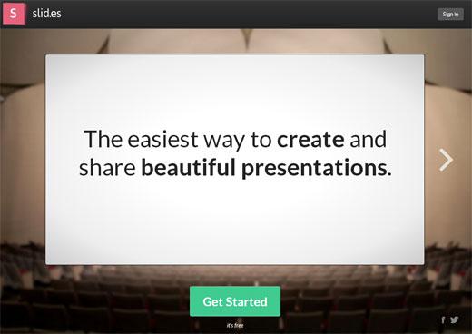 簡単にスライドを作成して共有できるWEBサービス「Slides」