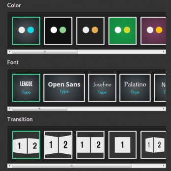 スライドの色やフォントの設定