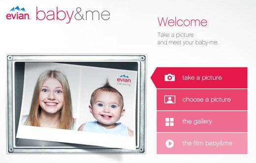 今の自分と赤ん坊の時の自分でツーショット写真が撮れるWEBアプリ「baby&me」