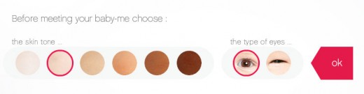 肌の色と目の大きさ