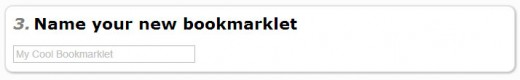 Name your new bookmarklet