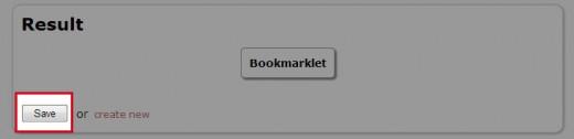 ブックマークレットの保存