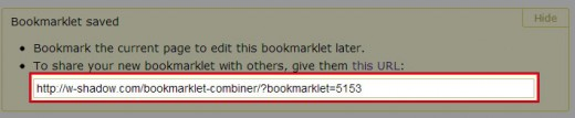 ブックマークレット一覧の保存