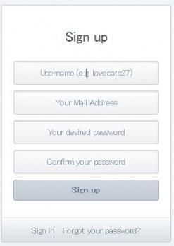 登録情報の入力