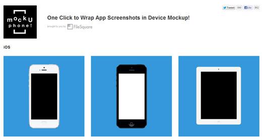 スマートフォンのはめ込み画像を作成して、色んな角度の画像データをまとめてダウンロードすることができる「MockUPhone」