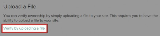 Verify by uploading a file