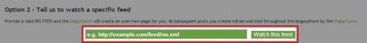 ブログのフィード URL を送信