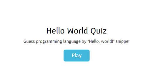 """""""Hello World""""を出力するコードからプログラミング言語を当てるクイズ「Hello World Quiz」"""