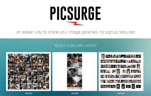 ユーザー登録不要!超簡単にフォトギャラリーが作成できるWEBサービス「PICSURGE」