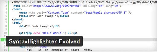 ソースコードを行番号付きで綺麗に表示することができるWordPressプラグイン「SyntaxHighlighter Evolved」