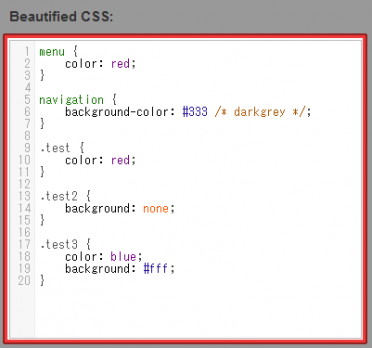 Beautified CSS