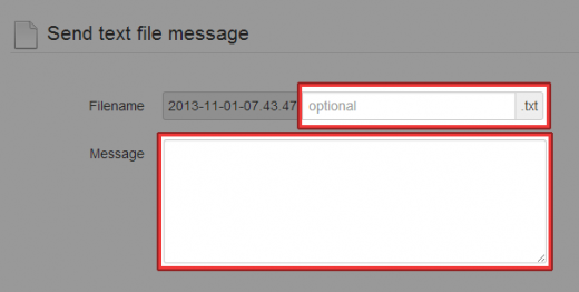 メッセージのファイル名とメッセージ内容