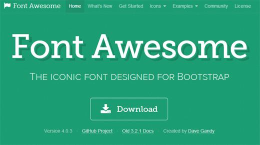 手軽にアイコンフォントが利用できるCSSフレームワーク「Font Awesome」