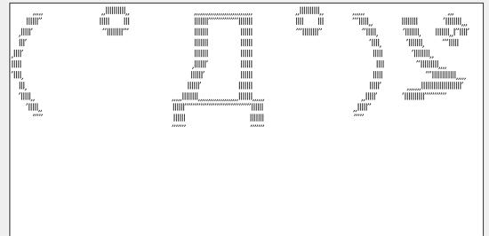 文字や顔文字、記号などをアスキーアートに変換する「巨大文字AAメーカー(仮)」