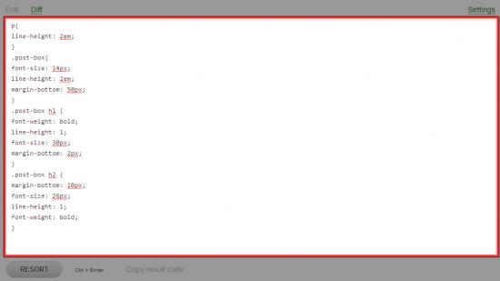 CSSの入力