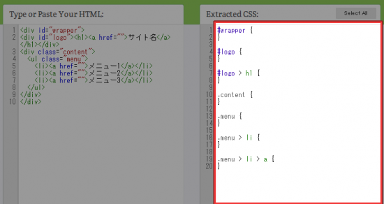 Extracted CSS