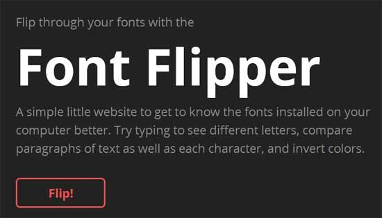 PCにインストールしているフォントの表示を比較することができる「Font Flipper」