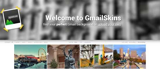 Gmail用のカスタムテーマを配布している「GmailSkins」