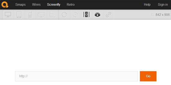 URLを入力するだけでレスポンシブウェブデザインの表示チェックができるWEBサービス「Screenfly」