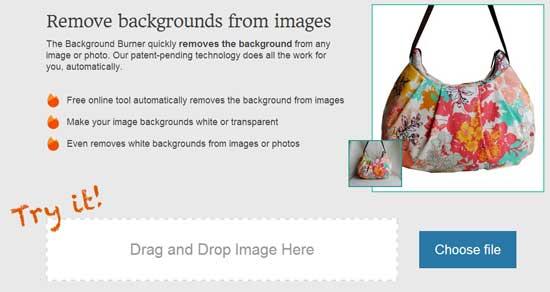背景を自動認識して白抜き画像を作成してくれるWEBサービス「Background Burner」