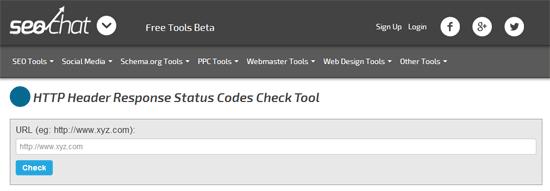 HTTPステータスコードを調べることができる「HTTP Header Response Status Codes Check Tool」