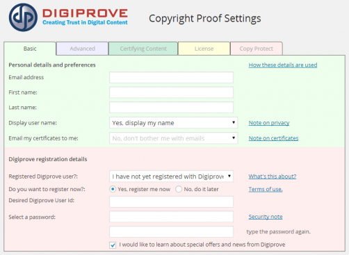 Digiproveへの登録