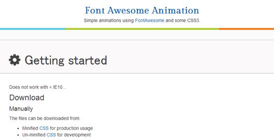 クラスを追加するだけでアイコンフォントにアニメーションをつけることができる「Font Awesome Animation」