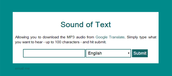 入力したテキストを音声データにしてダウンロードすることができる「Sound of Text」
