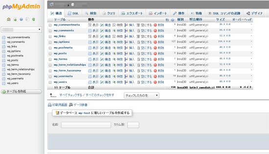 WordPressで使用しているデータベーステーブルの接頭辞を変更する手順