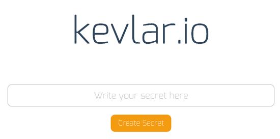 儚さがそこにある!一回限りしか表示できないメッセージを作成することができる「kevlar.io」