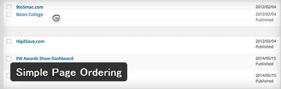 インストールするだけで固定ページの並べ替えができるようになるWordPressプラグイン「Simple Page Ordering」