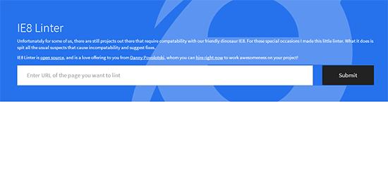 IE8での表示崩れなどの原因を調べることができるWEBサービス「IE8 Linter」