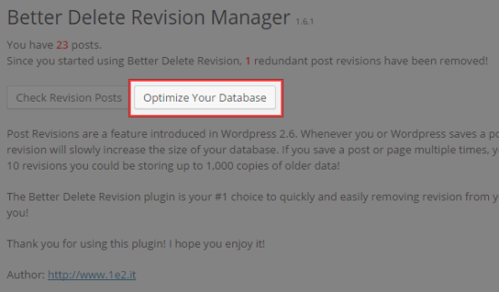 Optimize Your Database