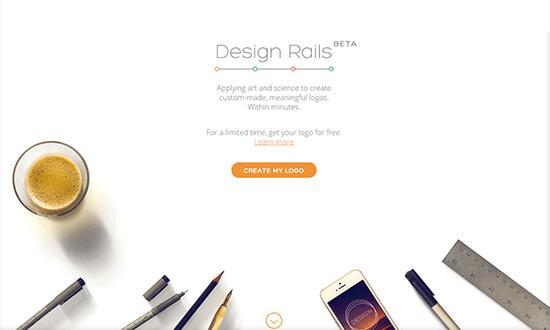イメージを選択していくだけの簡単操作でロゴを作成してくれるWEBサービス「Design Rails」