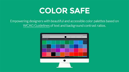 背景色やフォントなどを指定するとWCAGをもとに最適な文字色を提案してくれる「COLOR SAFE」