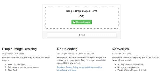複数の画像を一気にリサイズすることができるWEBサービス「Bulk Resize Photos」