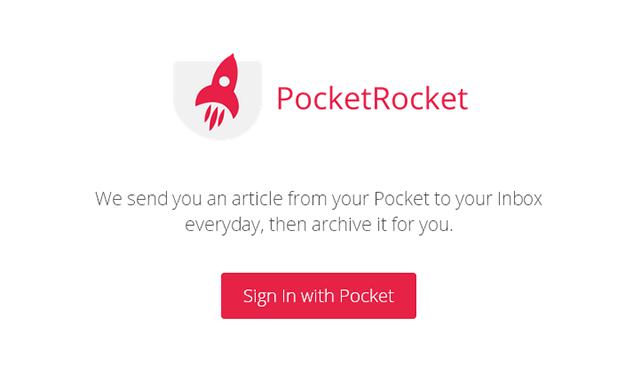 指定した時間にPocketに保存している記事をメールしてくれる「PocketRocket」